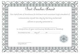 best teacher award template teacher certificate template copster co