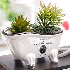 9 inch white ceramic french country style bathtub succulent planter soap dish flower pot hanger flower pot ideas in germany usa