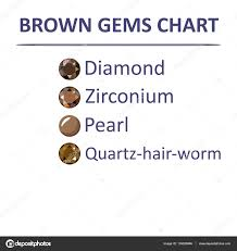 Gems Brown Color Chart Stock Vector Arlatis 139326886