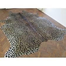 cowhide rug with jaguar print