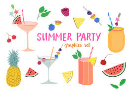 summer party clipart. Fine Summer Summer Party Clipart Set On Clipart F