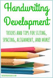 Handwriting Progression Chart Handwriting Development Sizing Spacing Alignment And