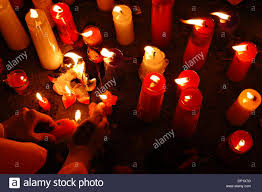 May The Light Of This Candle May 11 2006 Magelang Indonesia Buddhists Light Candles