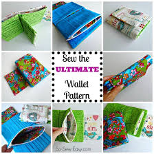 Free Wallet Patterns Mesmerizing The Ultimate Wallet Sewing Pattern So Sew Easy