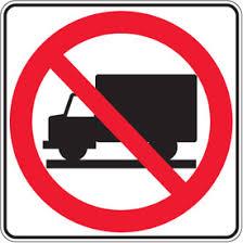 Graphic Regulation Traffic Signs No Trucks Allowed From Seton Ca