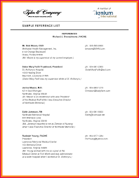 Reference Template For Resume List Page Example Personal Format