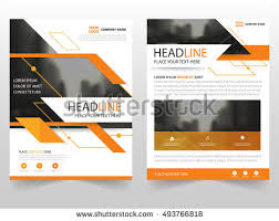 vector 493766818 shutterstock abstract orange triangle business brochure leaflet flyer annual report template design book cover layout design