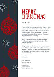 Christmas Letterhead Template Blue And Red Balls Christmas Letterhead Templates By Canva