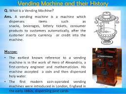 Cons Of Vending Machines Interesting Seminar Presentation On FSM Based Vending Machine
