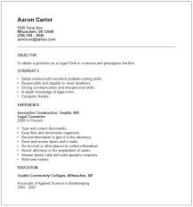 resume templates law clerk corporate and contract law clerk resume