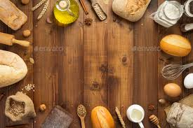 Bread And Bakery Ingredients On Wood Stock Photo By Seregam Photodune