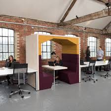 brick office furniture. Appealing Office Furniture Pods With Brick Walls And Vinyl Flooring O