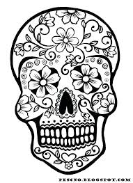 Free Spring Coloring Sheets Sugar Skull Coloring Pages For Adults
