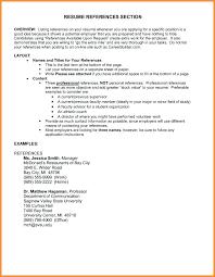Resume With Reference Resume Reference Section Englishor Com