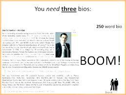 Sample Bio Template Personal Biography Template Free Download