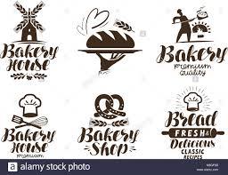 Bakery Bakehouse Label Or Logo Bread Baked Goods Food Symbol