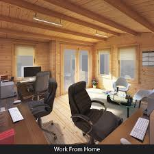 Home office cabin Cabin Site 0 1 Thesynergistsorg Billyoh Seattle Home Office Log Cabins Garden Buildings Direct