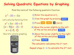 12 solving quadratic equations by graphing