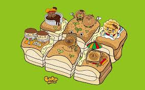 cartoon bread wallpaper. Simple Wallpaper Windows 7 Theme Cartoon Characters Wallpaper  Bake House And Bread D