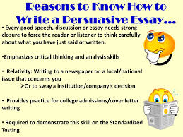 writing a persuasive essay ppt video online  reasons to know how to write a persuasive essay