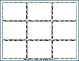 Blank Flash Cards Template Blank Flash Card Template Printable 393