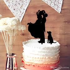 2019 Funny Wedding Cake Topper Groom Lifting Bride With Dog