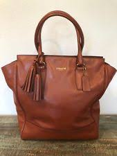 COACH LEGACY LEATHER LARGE TANNER TOTE BAG PURSE COLOR COGNAC STYLE  19924