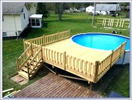 wood pool deck wooden pool deck of rectangle swimming pool design intended for above ground pool wood deck kits