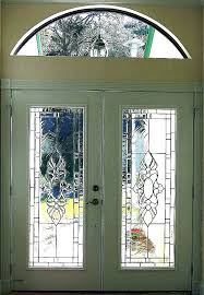 stained glass door inserts front