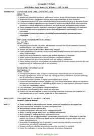 Sample Resume For Operations Manager In Banking Save Excellent ...
