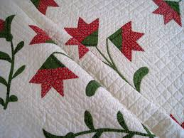 Red & Green Carolina Lily Pattern Quilt c.1860 Handmade Antique ... & ... Carolina Lily Pattern Quilt c.1860 Handmade Antique. Click to expand Adamdwight.com