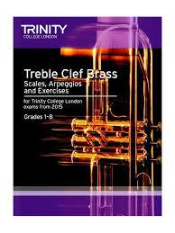 Treble Clef Music Store Trinity Treble Clef Brass Scales Exercises Grades 1 To 8
