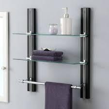 bathroom shelf organizer glass towel rack bar wall mounted shelves