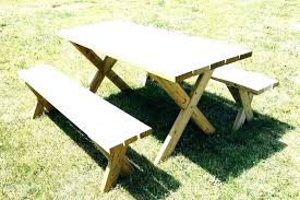 round wood picnic table with separate benches wooden tables picnic bench home depot tables at wooden wood table round kit