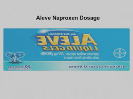 Aleve Standard Dose Aleve Naproxen Dosage Pill Shop No