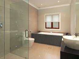 grey ceramic wall tiles in modern bathroom design with shower ceiling wall shower lighting