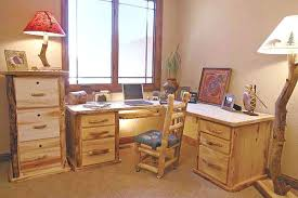 pine home office furniture. Rustic Log Office Furniture Aspen Pine Desks Bookcases Home F