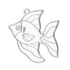 transpa suncatchers fish stained glass 3 5 unpainted