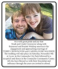 Terry Crownover & Carissa Dori Waldrep Wedding   Announcements ...