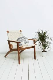 White Woven Lounge Chair | Urban Outfitters | - Mad About The House
