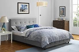 Bedroom  Bedroom Decor With Contemporary Full Linen Platform Bed Linen Platform Bed