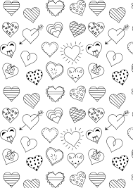 Free Printable Heart Coloring Page Ausdruckbare