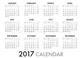 2017 Calendar Planner Design For Stock Vector Colourbox