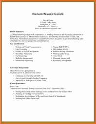 Work Experience Resume Example Sample Resume For Administrative