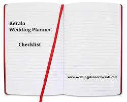 Wedding Coordinator Checklist Ultimate Kerala Wedding Planners Checklist Only Kerala