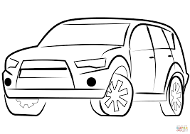 Small Picture SUV Car coloring page Free Printable Coloring Pages