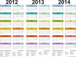 Calendar 2013 Template 2012 2014 Three Year Calendar Free Printable Word Templates