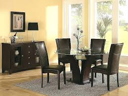 elegant round dining table glass kitchen tables and chairs colorful designs