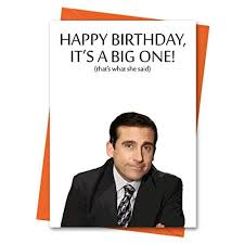michael scott s letter of recommendation for dwight funny birthday card the office us michael scott thats what she said office tv series greeting card