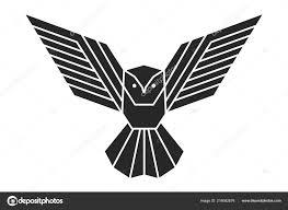 геометрические сова логотип эскиз татуировки векторное изображение